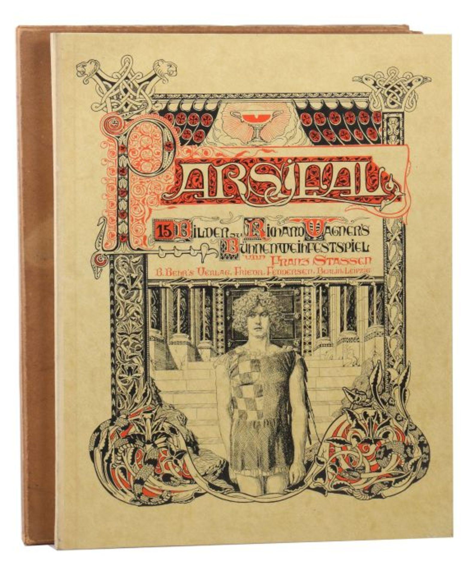 Stassen, Franz (Illustr.) Richard Wagner - Parsifal - 15 Bilder zu Richard Wagners Bühnenweihfest,