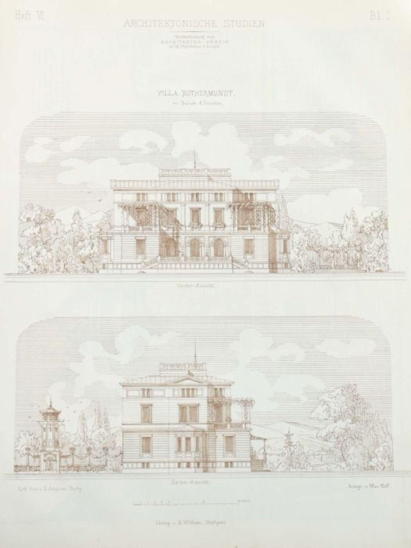 Architektonische Studien Herausgegeben vom Architektenverein am Kgl. Polytechnikum zu Stuttgart, - Bild 4 aus 10