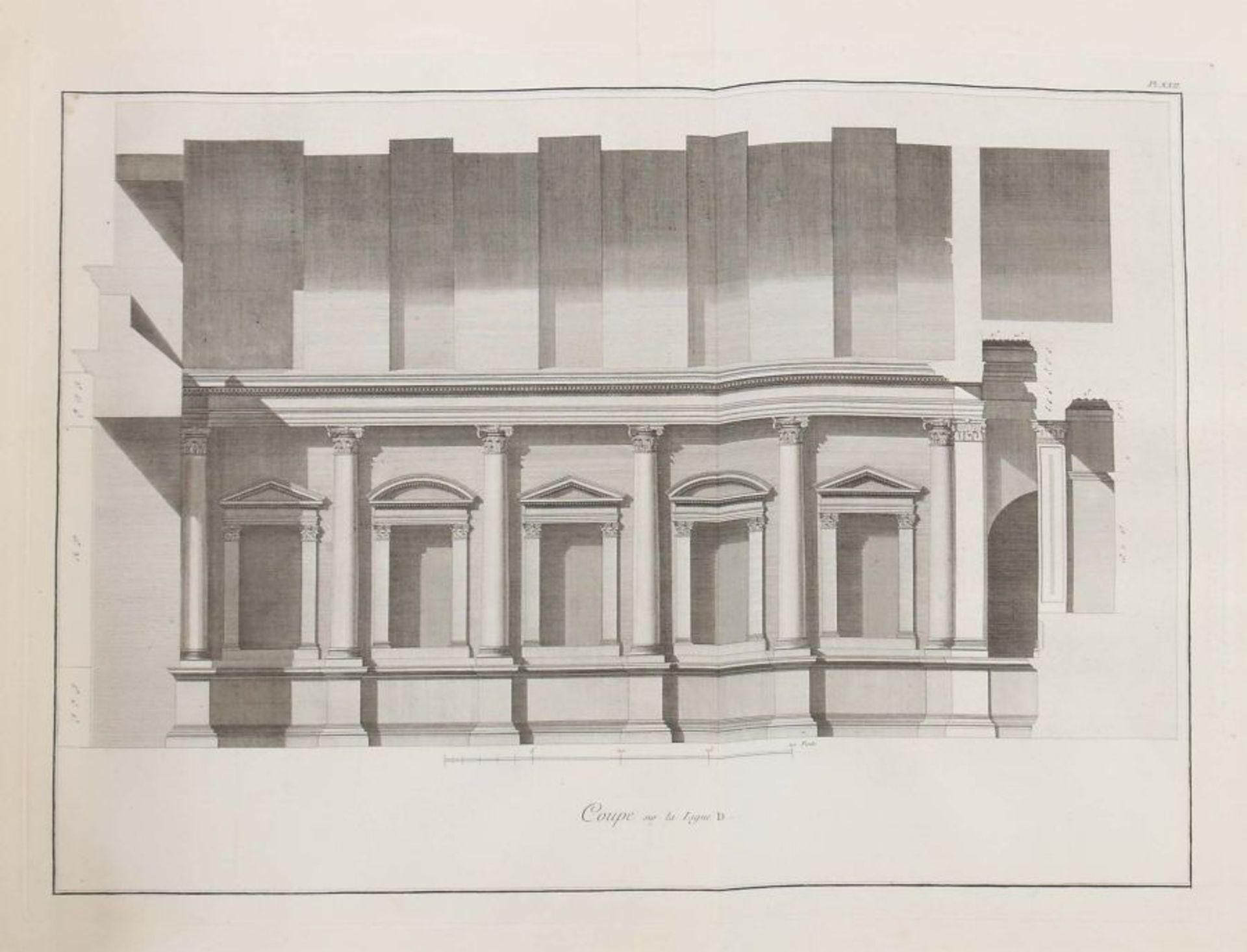 Clérisseau, Charles-Louis Antiquités de la France - Monumens de Nismes, Pierres, Paris, 1778, - Bild 8 aus 11