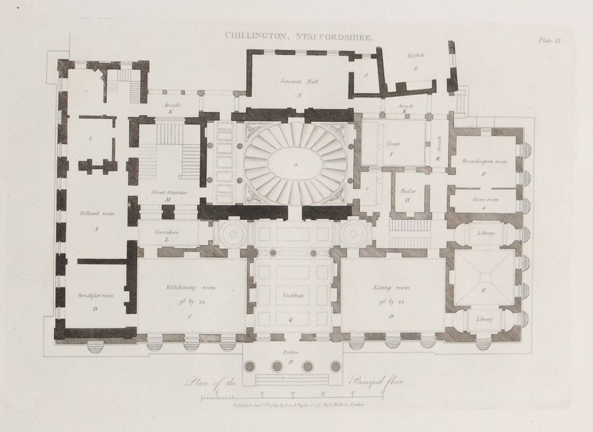 Soane, John Plans, Elevations and Sections of Buildings: executed in the counties of Norfolk, - Bild 3 aus 8