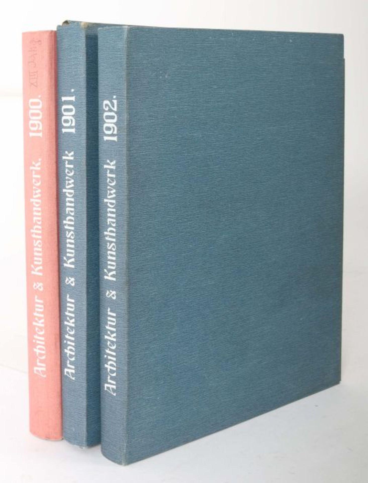 Blätter für Architektur und Kunsthandwerk Oldenbourg/Spielmeyer, Berlin, 1900-02, 3 Bde., je mit - Bild 6 aus 6