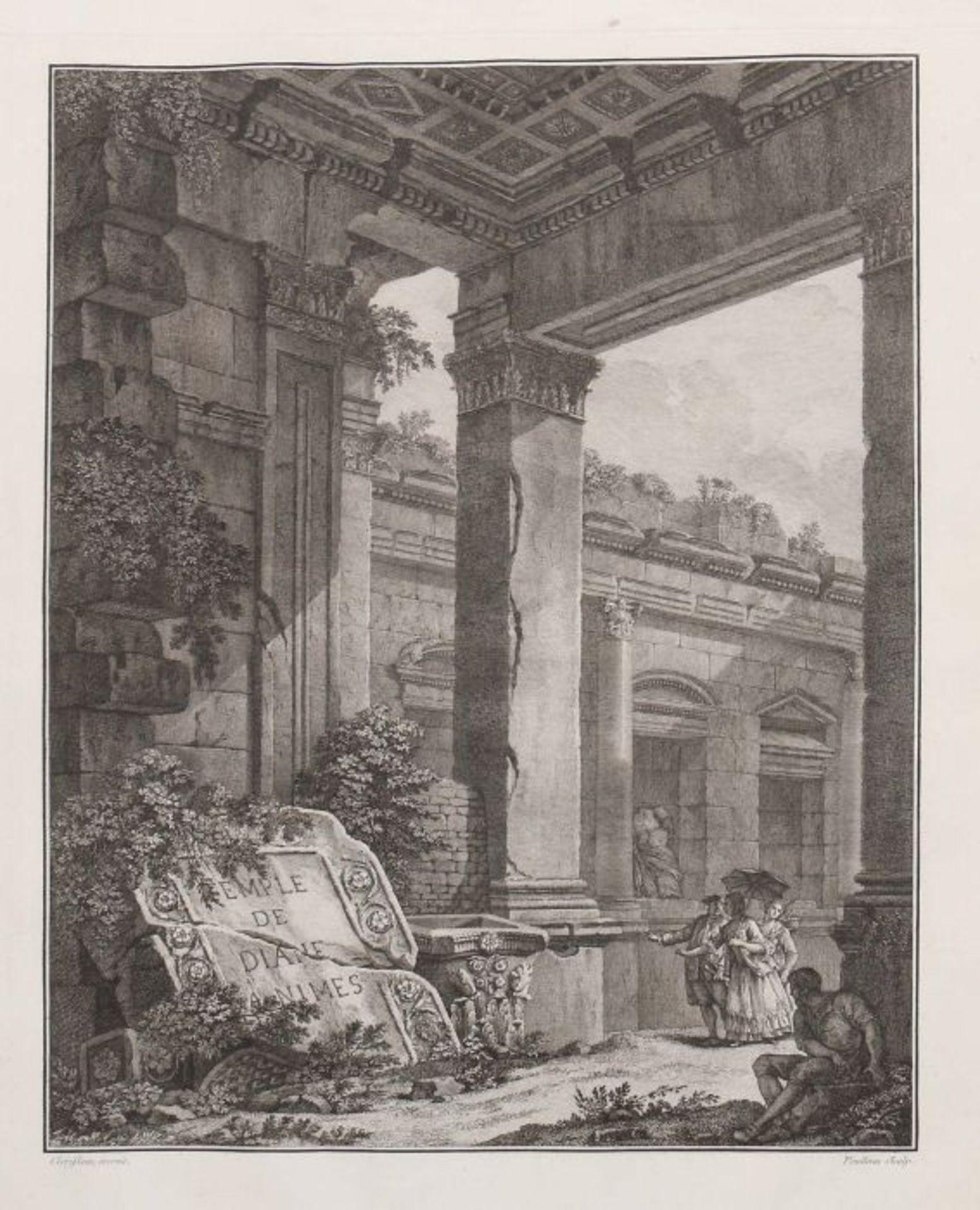 Clérisseau, Charles-Louis Antiquités de la France - Monumens de Nismes, Pierres, Paris, 1778, - Bild 3 aus 11