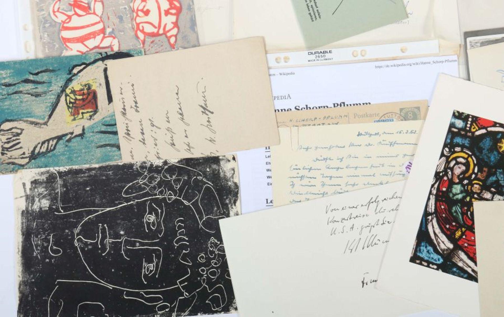 Künstlerkorrespondenzen Hand-/maschinengeschriebene Karten und Briefe u.a. von Strich-Chapell, - Bild 5 aus 5