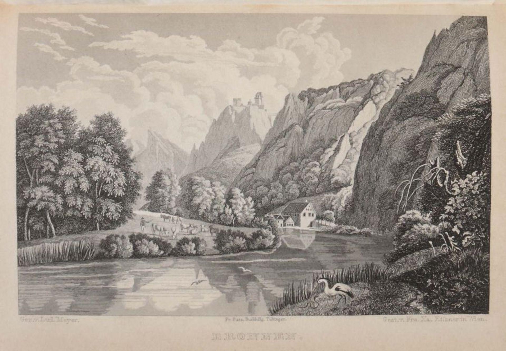 Schwab, Gustav Wanderungen durch Schwaben, vierte vollständig umgearbeitete Auflage von Dr. Karl - Bild 3 aus 4