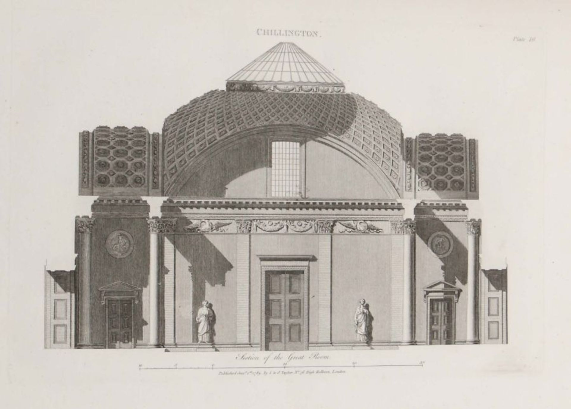 Soane, John Plans, Elevations and Sections of Buildings: executed in the counties of Norfolk, - Bild 4 aus 8