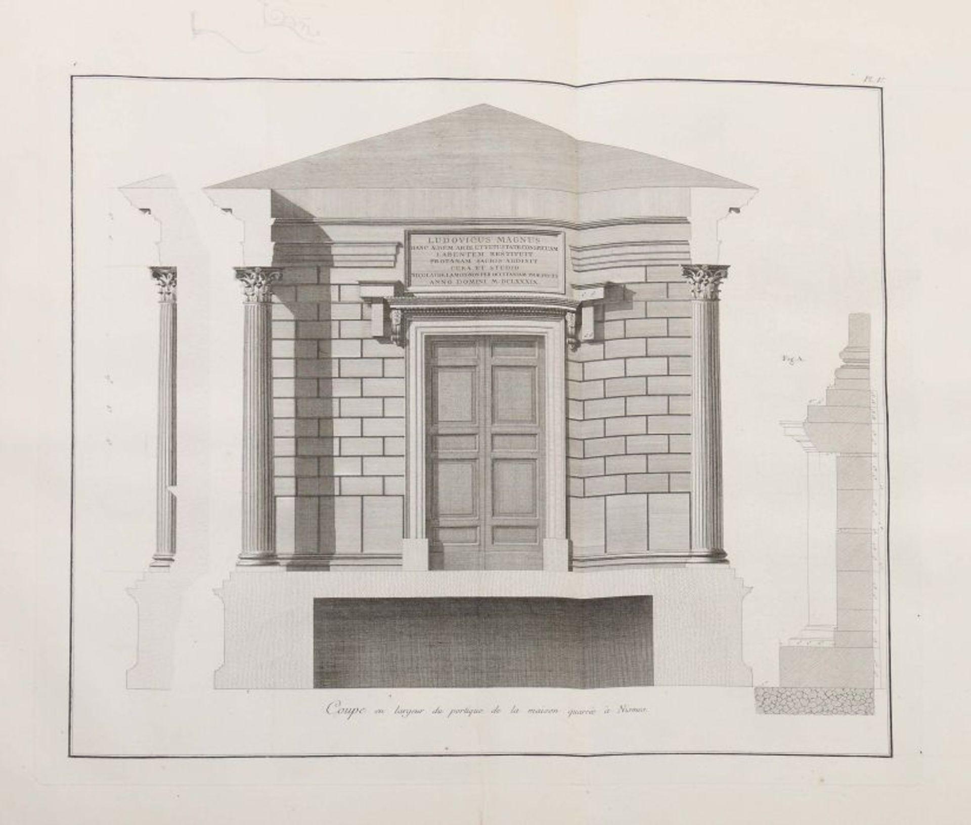 Clérisseau, Charles-Louis Antiquités de la France - Monumens de Nismes, Pierres, Paris, 1778, - Bild 5 aus 11