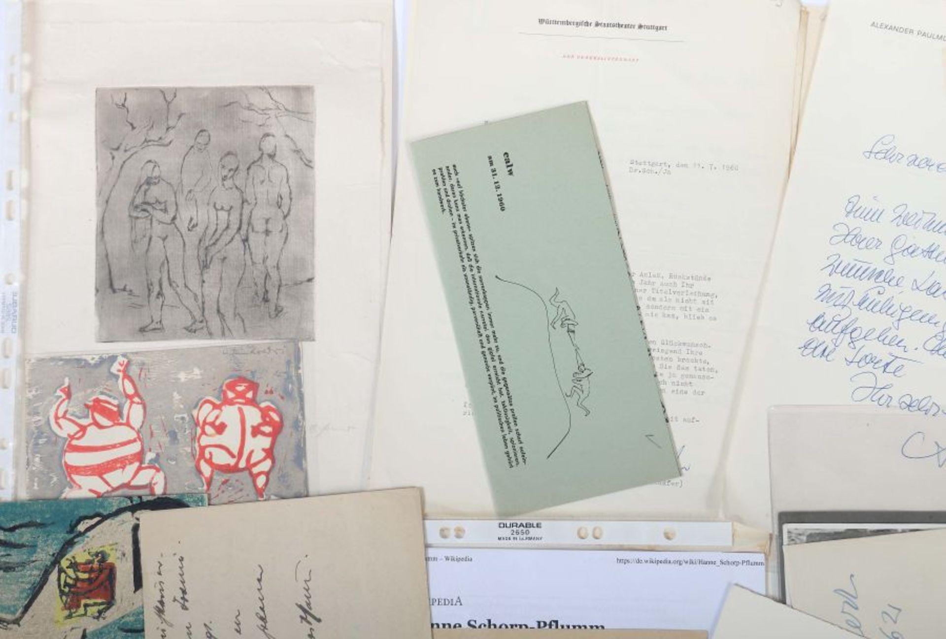 Künstlerkorrespondenzen Hand-/maschinengeschriebene Karten und Briefe u.a. von Strich-Chapell, - Bild 2 aus 5