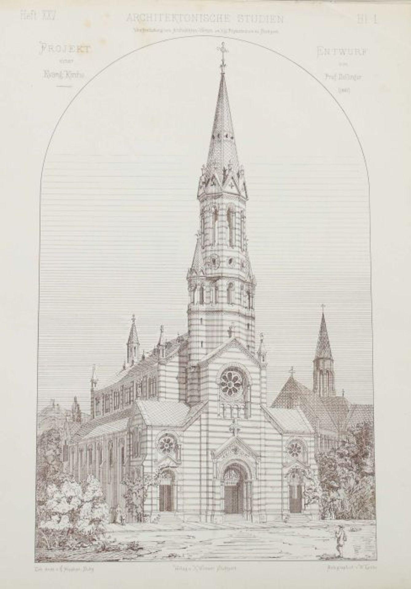 Architektonische Studien Herausgegeben vom Architektenverein am Kgl. Polytechnikum zu Stuttgart, - Bild 7 aus 10