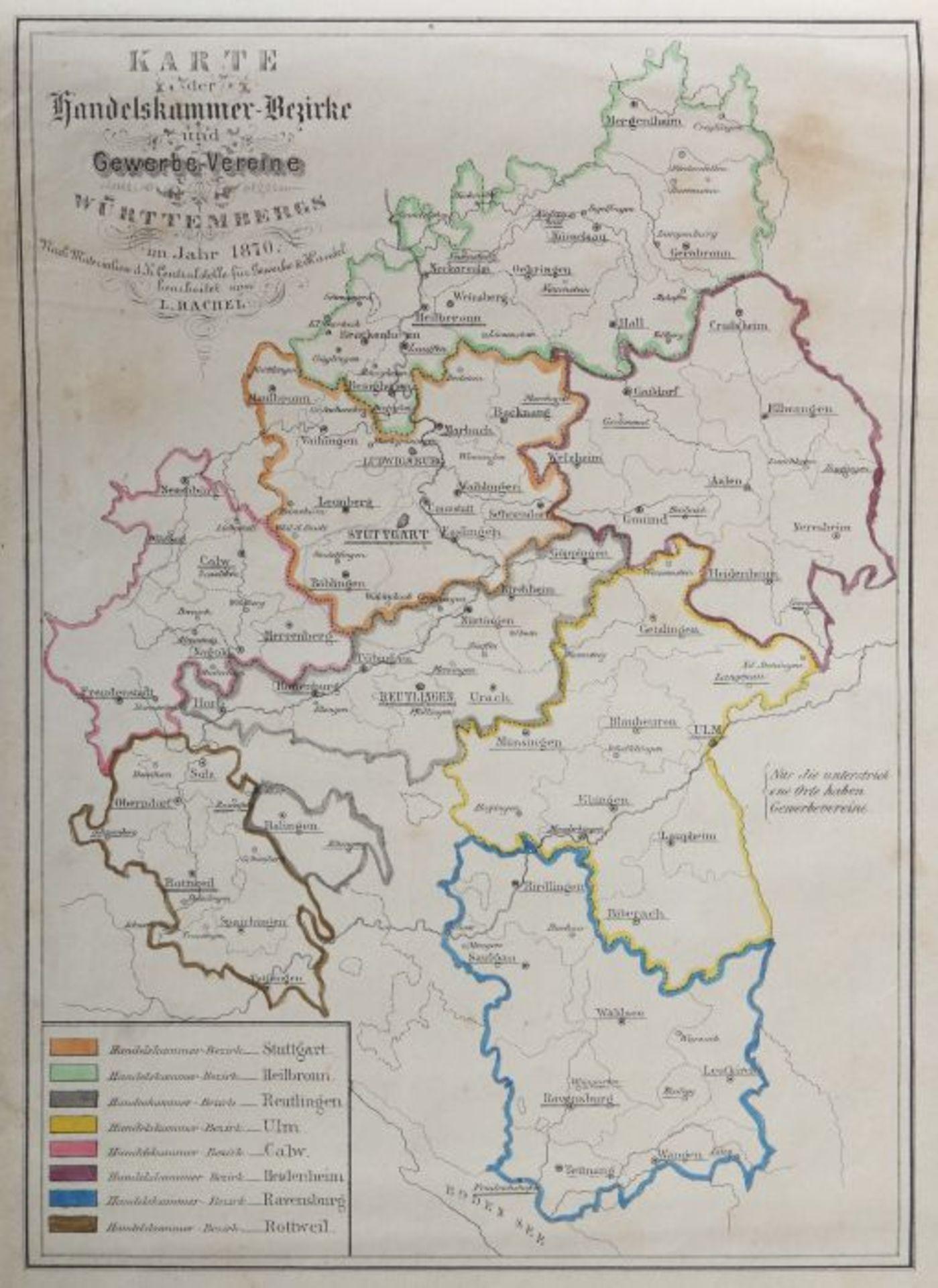Rachel, Louis Illustrirter Atlas des Königreichs Württemnberg für Schule und Haus mit vielen Kart - Bild 6 aus 6