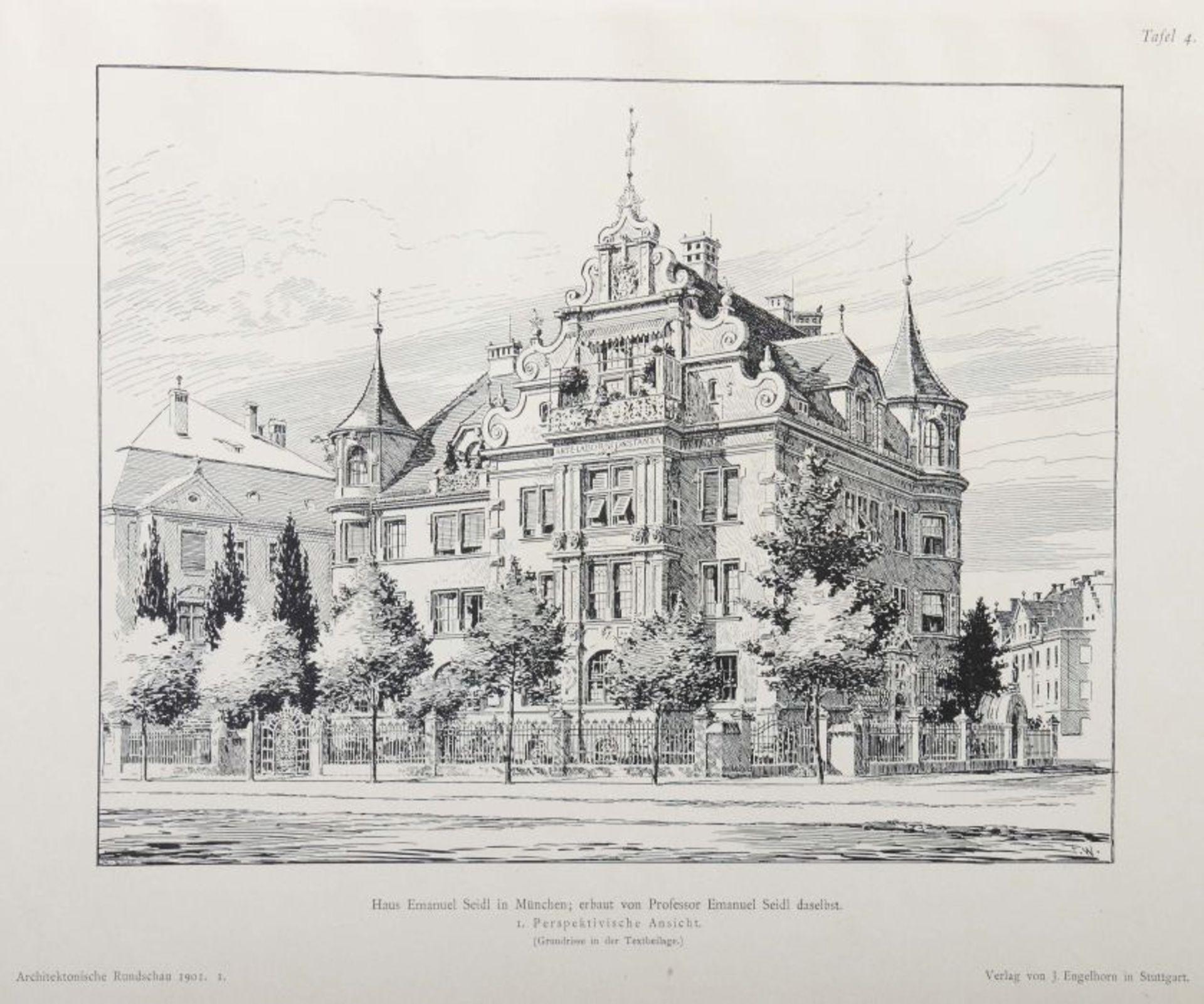 Architektonische Rundschau Skizzenblätter aus allen Gebieten der Baukunst, hrsg. von Ludwig - Bild 4 aus 6