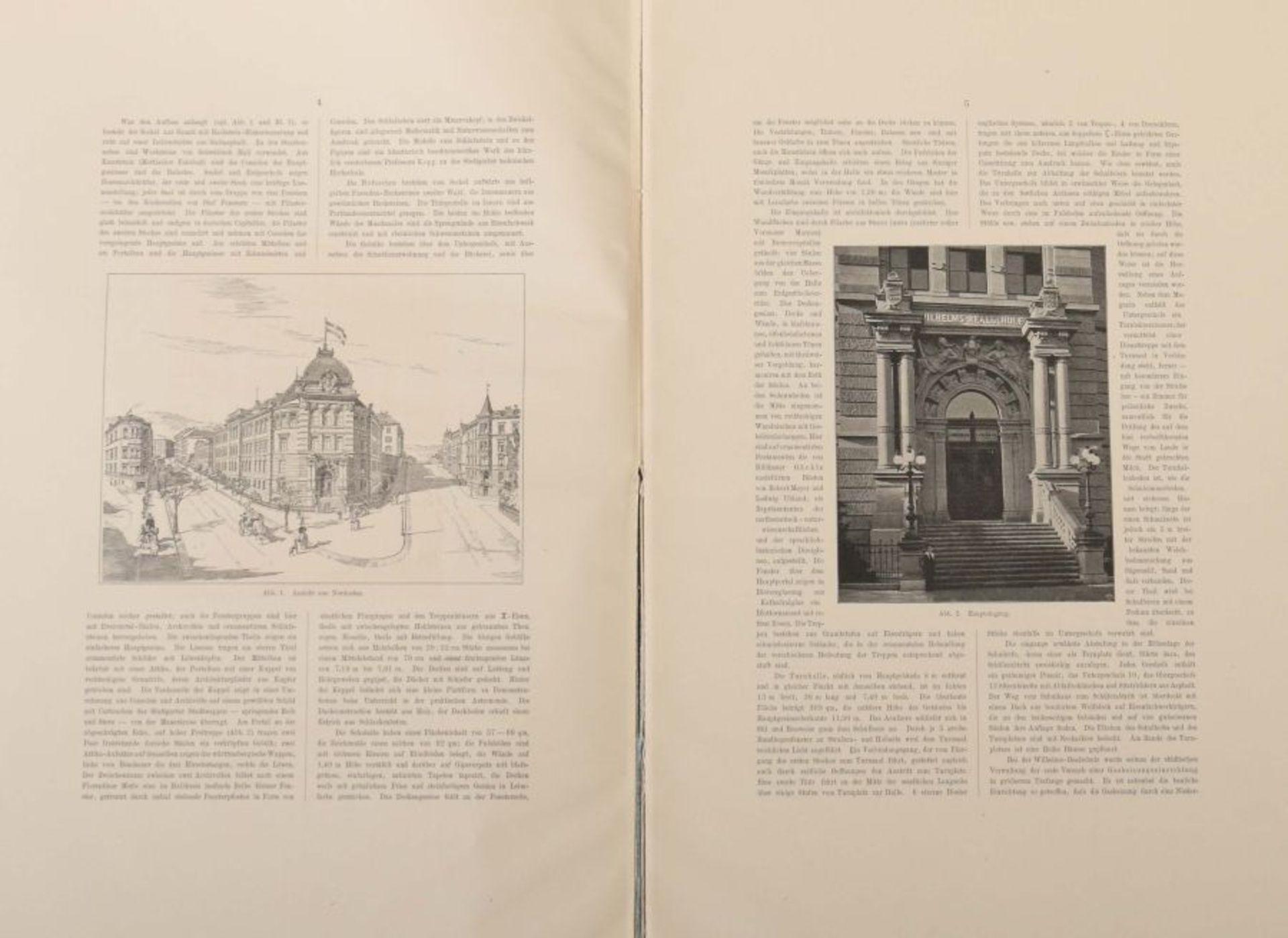 Mayer, Emil Die Wilhelms-Realschule in Stuttgart, Berlin, Ernst & Sohn, 1898, 6 S. sowie - Bild 3 aus 4