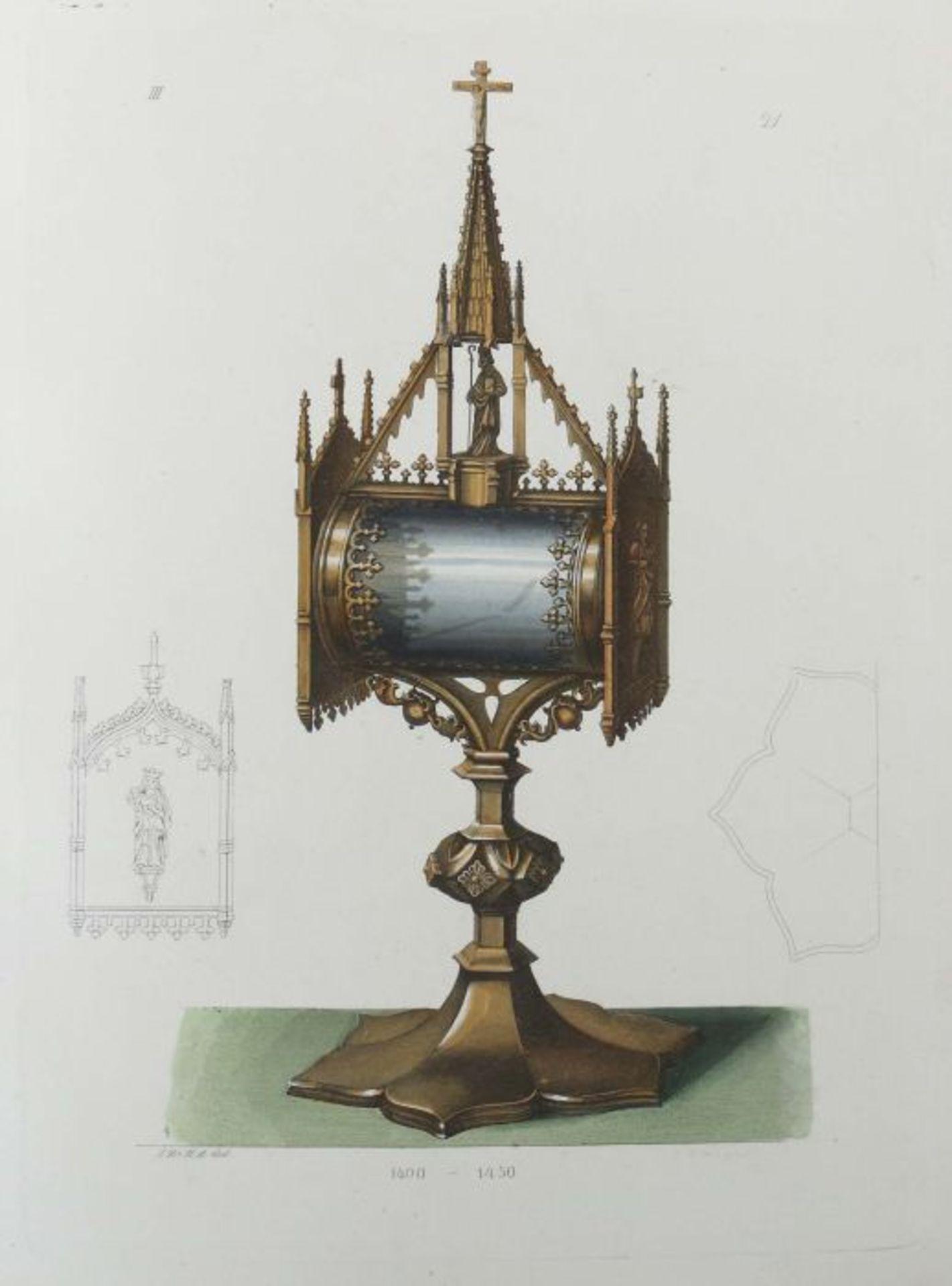 Becker, C. & Hefner, J. von (Hrsg.) Kunstwerke und Geräthschaften des Mittelalters und der - Bild 5 aus 7