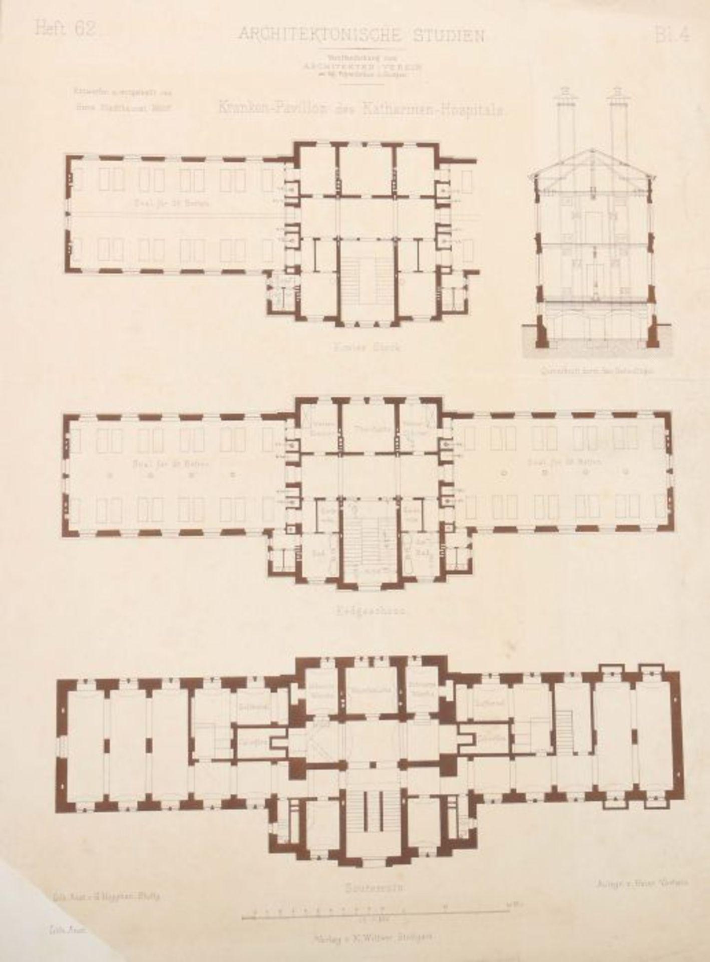 Architektonische Studien Herausgegeben vom Architektenverein am Kgl. Polytechnikum zu Stuttgart, - Bild 8 aus 10