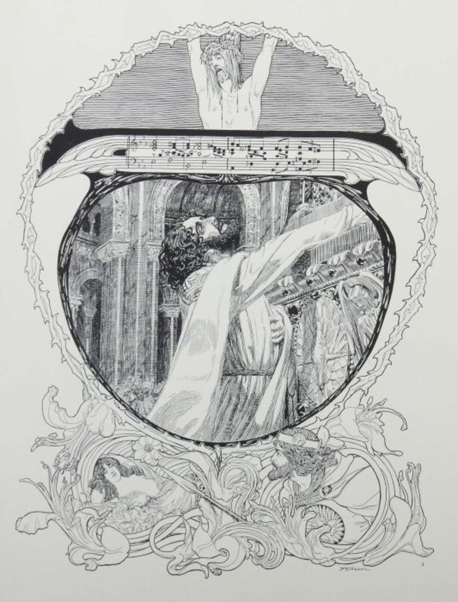 Stassen, Franz (Illustr.) Richard Wagner - Parsifal - 15 Bilder zu Richard Wagners Bühnenweihfest, - Bild 3 aus 6