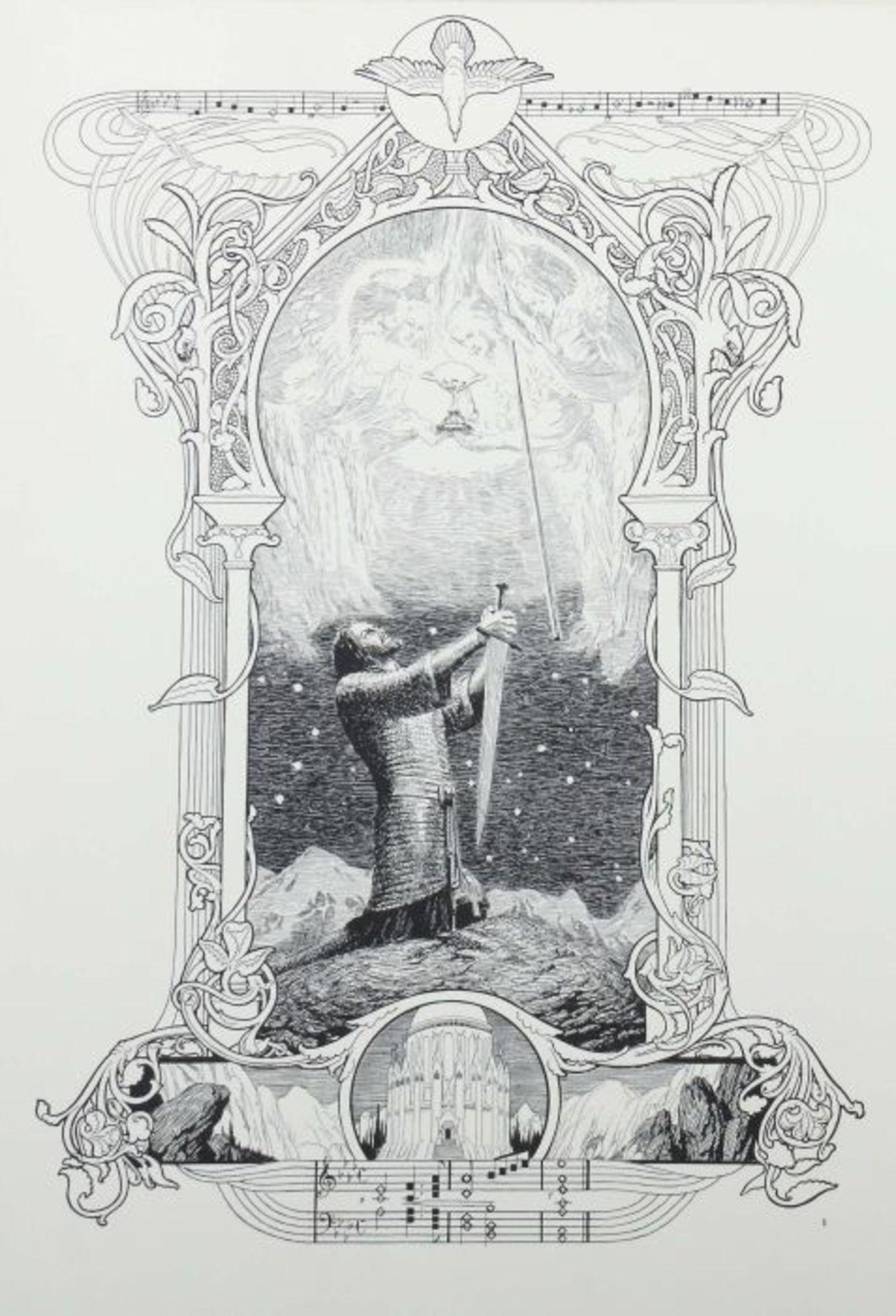 Stassen, Franz (Illustr.) Richard Wagner - Parsifal - 15 Bilder zu Richard Wagners Bühnenweihfest, - Bild 2 aus 6