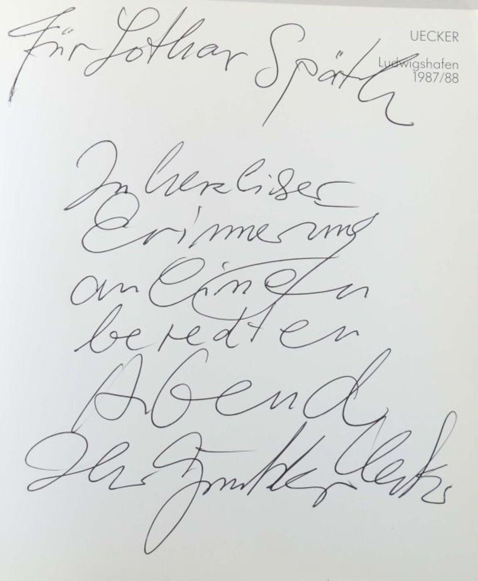 Signierter Ausstellungskatalog Günther Uecker UECKER - Wilhelm-Hack-Museum und Kunstverein - Bild 2 aus 3