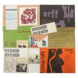 Konvolut HAP Grieshaber & Bernsteinschule Variierende Broschüren, Karten & Plakate. Meist guter