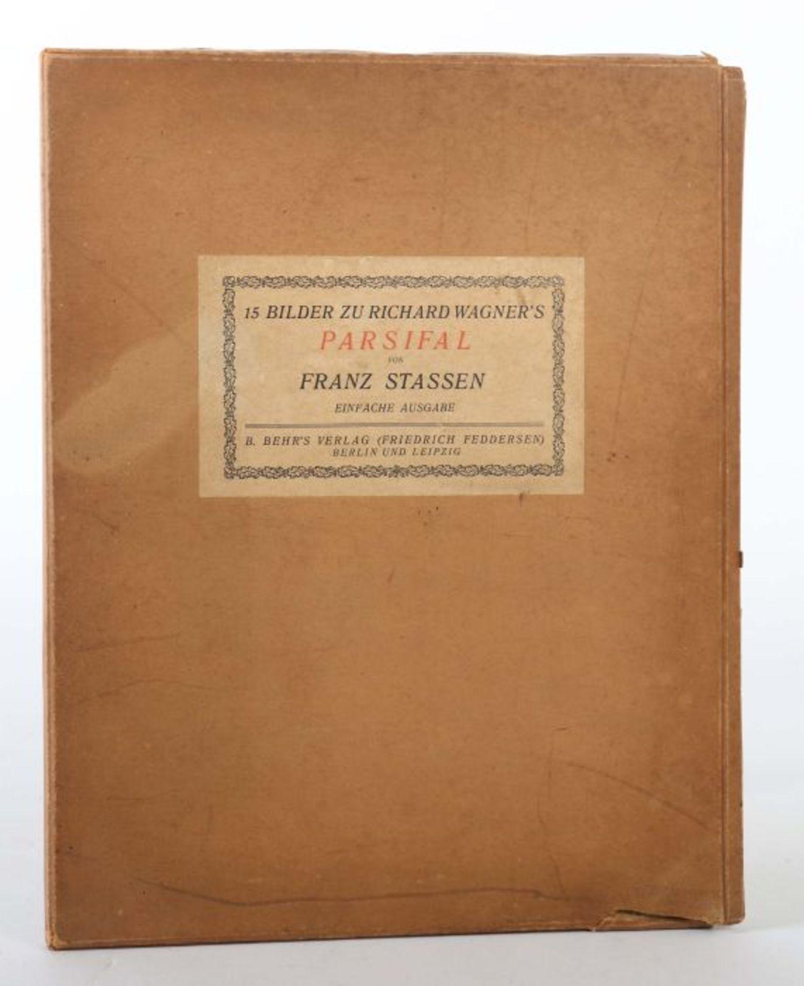 Stassen, Franz (Illustr.) Richard Wagner - Parsifal - 15 Bilder zu Richard Wagners Bühnenweihfest, - Bild 6 aus 6
