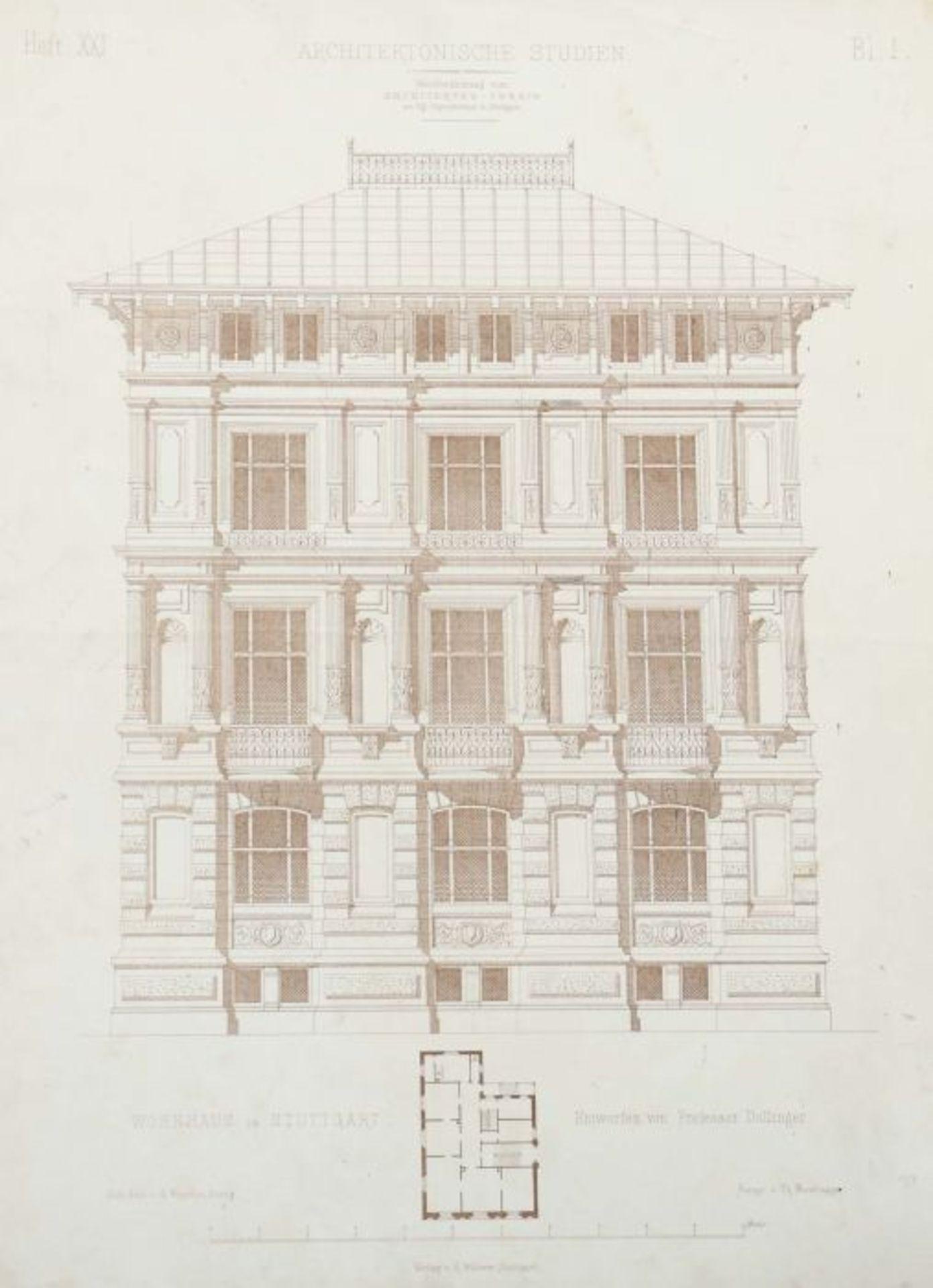 Architektonische Studien Herausgegeben vom Architektenverein am Kgl. Polytechnikum zu Stuttgart, - Bild 6 aus 10