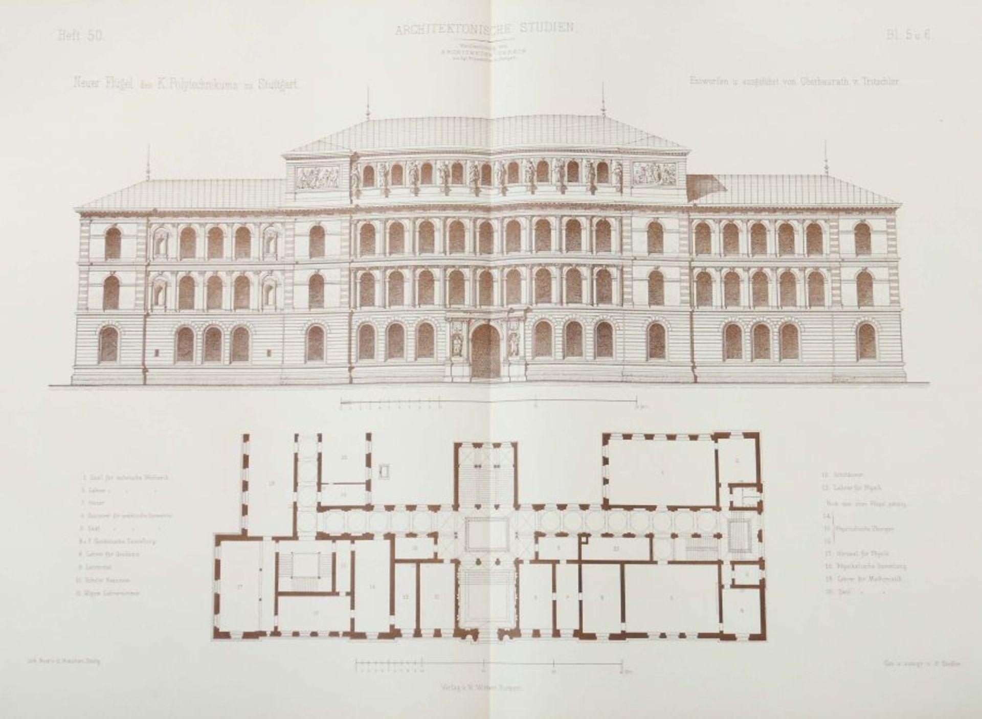 Architektonische Studien Herausgegeben vom Architektenverein am Kgl. Polytechnikum zu Stuttgart, - Bild 9 aus 10