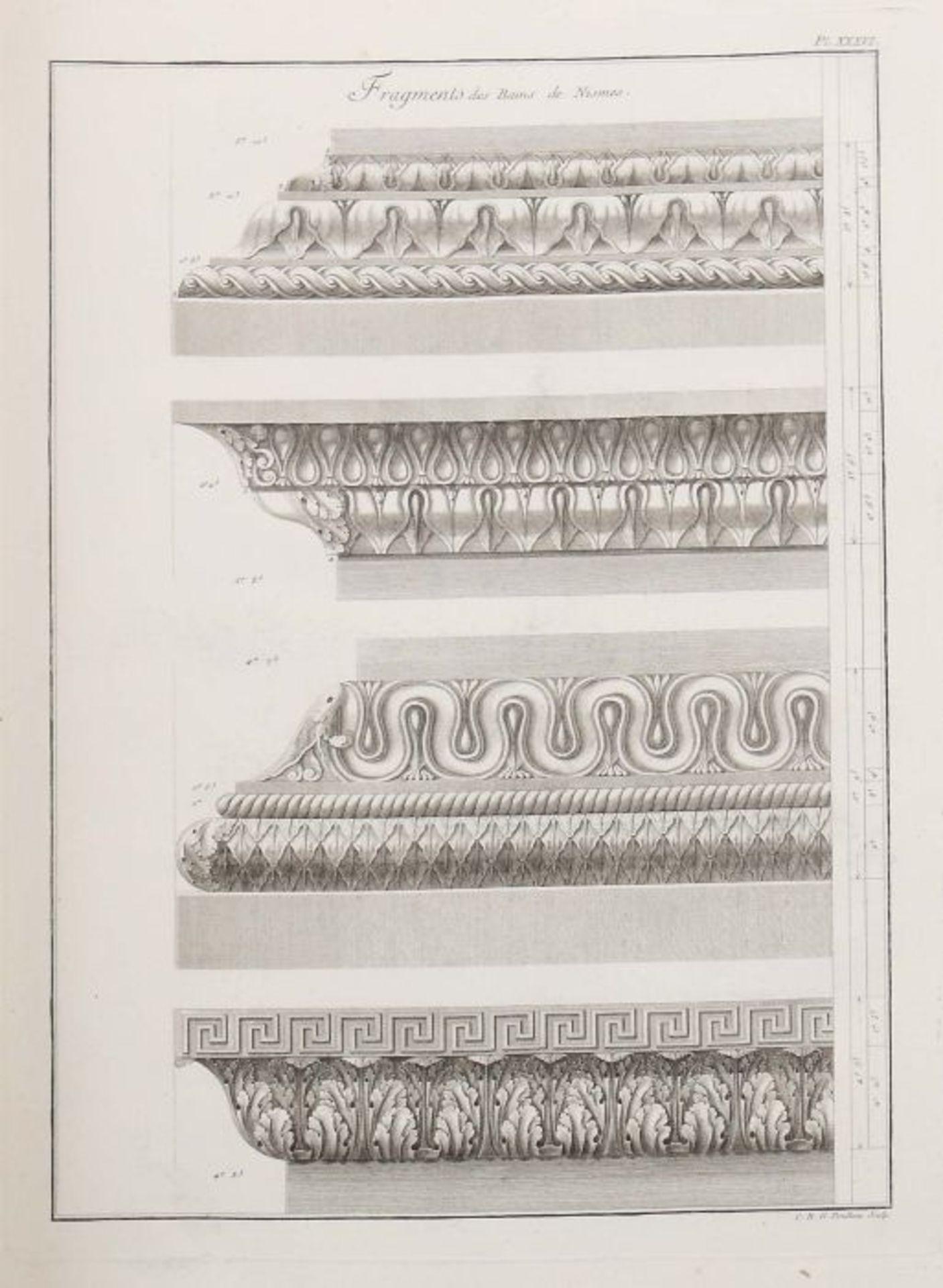 Clérisseau, Charles-Louis Antiquités de la France - Monumens de Nismes, Pierres, Paris, 1778, - Bild 10 aus 11