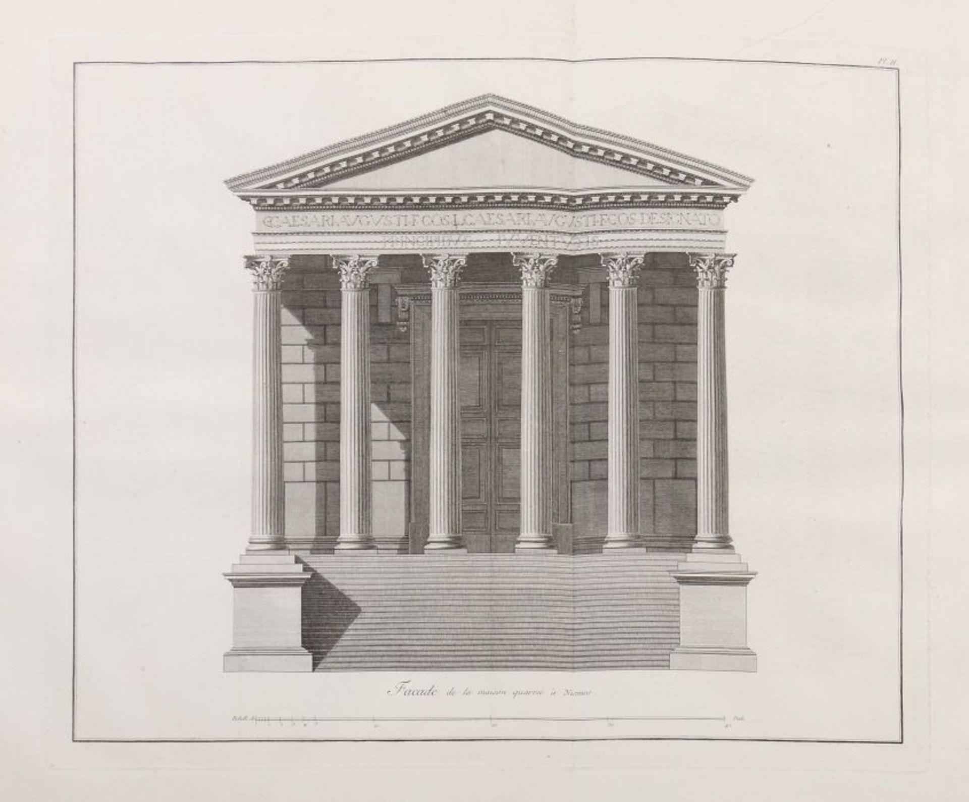 Clérisseau, Charles-Louis Antiquités de la France - Monumens de Nismes, Pierres, Paris, 1778, - Bild 4 aus 11