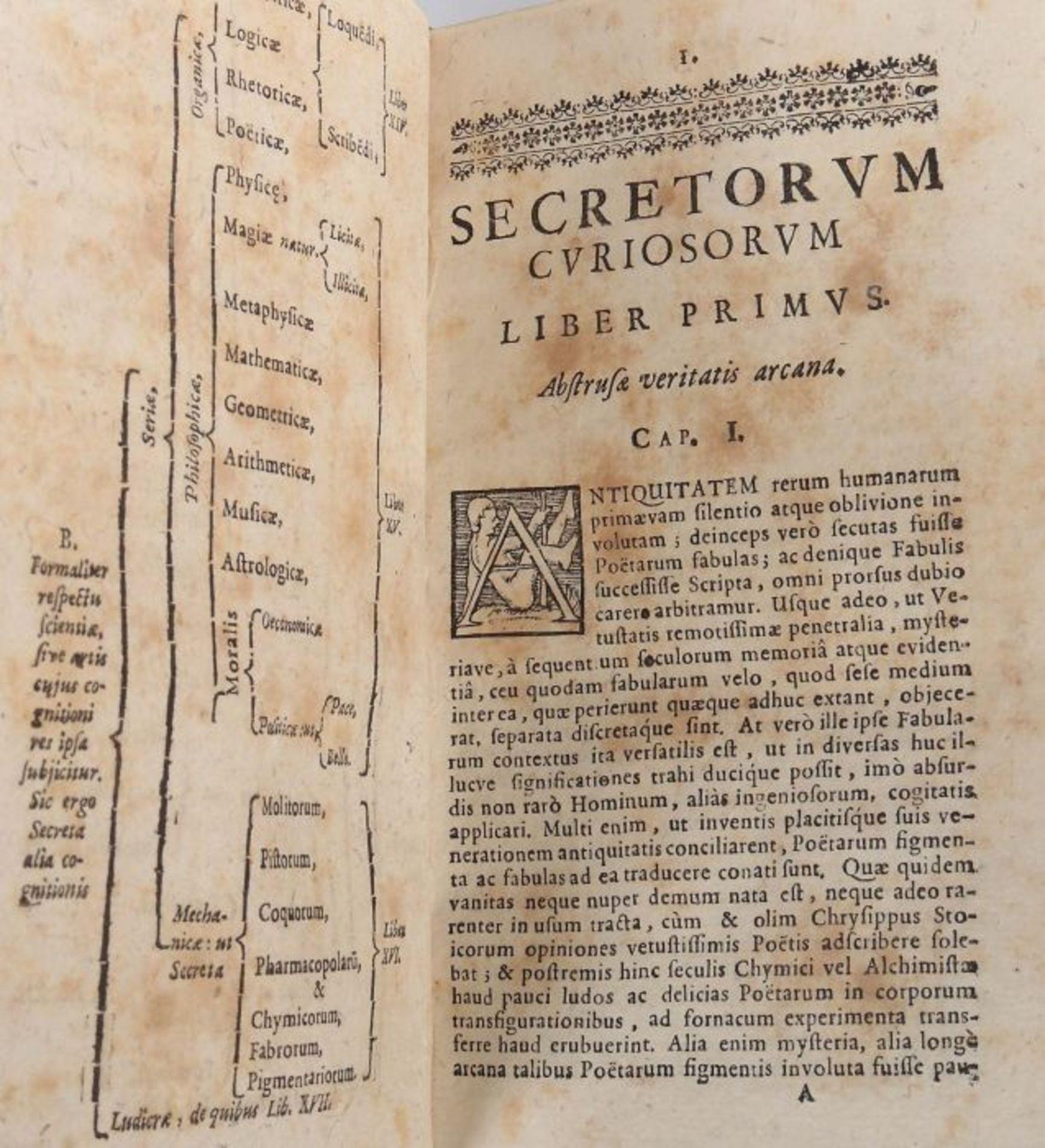 Wecker, Joh(ann) Jac(ob) De secretis libro XVII. Ex variis Auctoribus collecti, methodice - Bild 4 aus 5