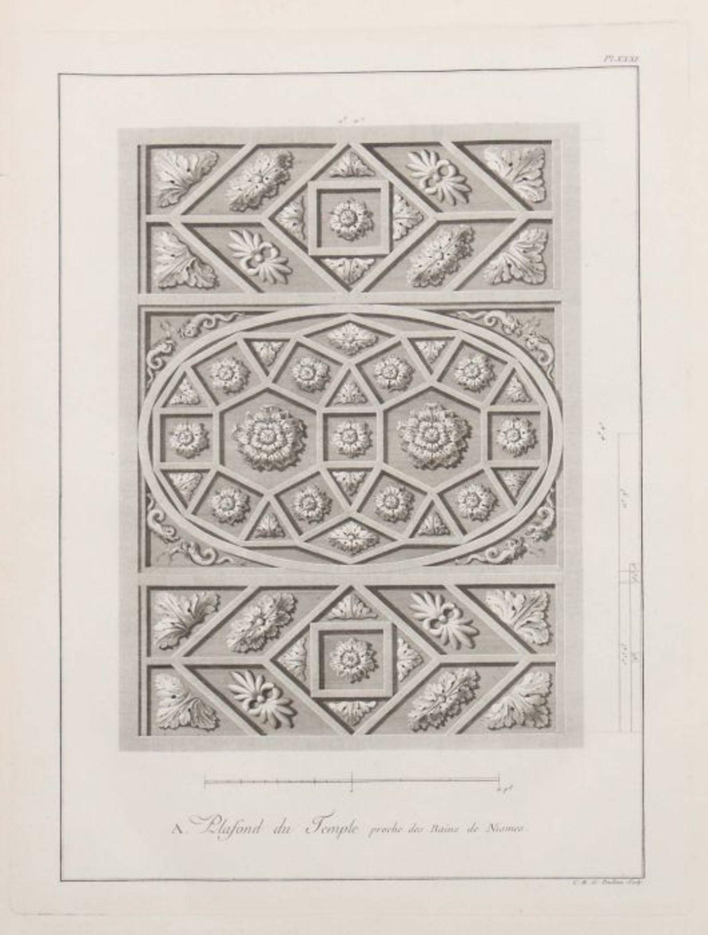 Clérisseau, Charles-Louis Antiquités de la France - Monumens de Nismes, Pierres, Paris, 1778, - Bild 9 aus 11
