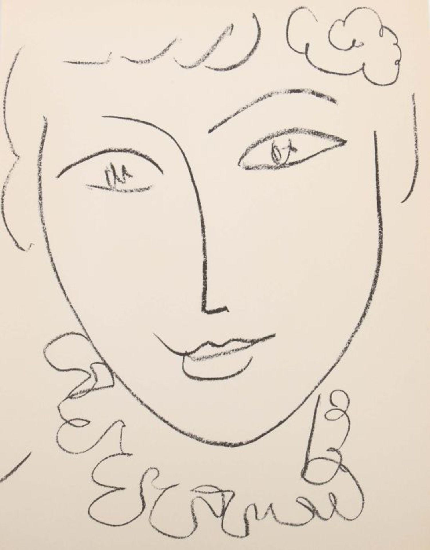 Matisse, Henri Portraits, Monte Carlo, André Sauret, 1954, Exp. 2421 von 2850 num. Exp., mit einer - Bild 2 aus 4
