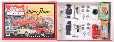 2 Bausatz-Autos Schuco, Micro Racer 01771, Montage-Set I, 2 Replika-Modelle als Bausatz, 1 VW-Käfer