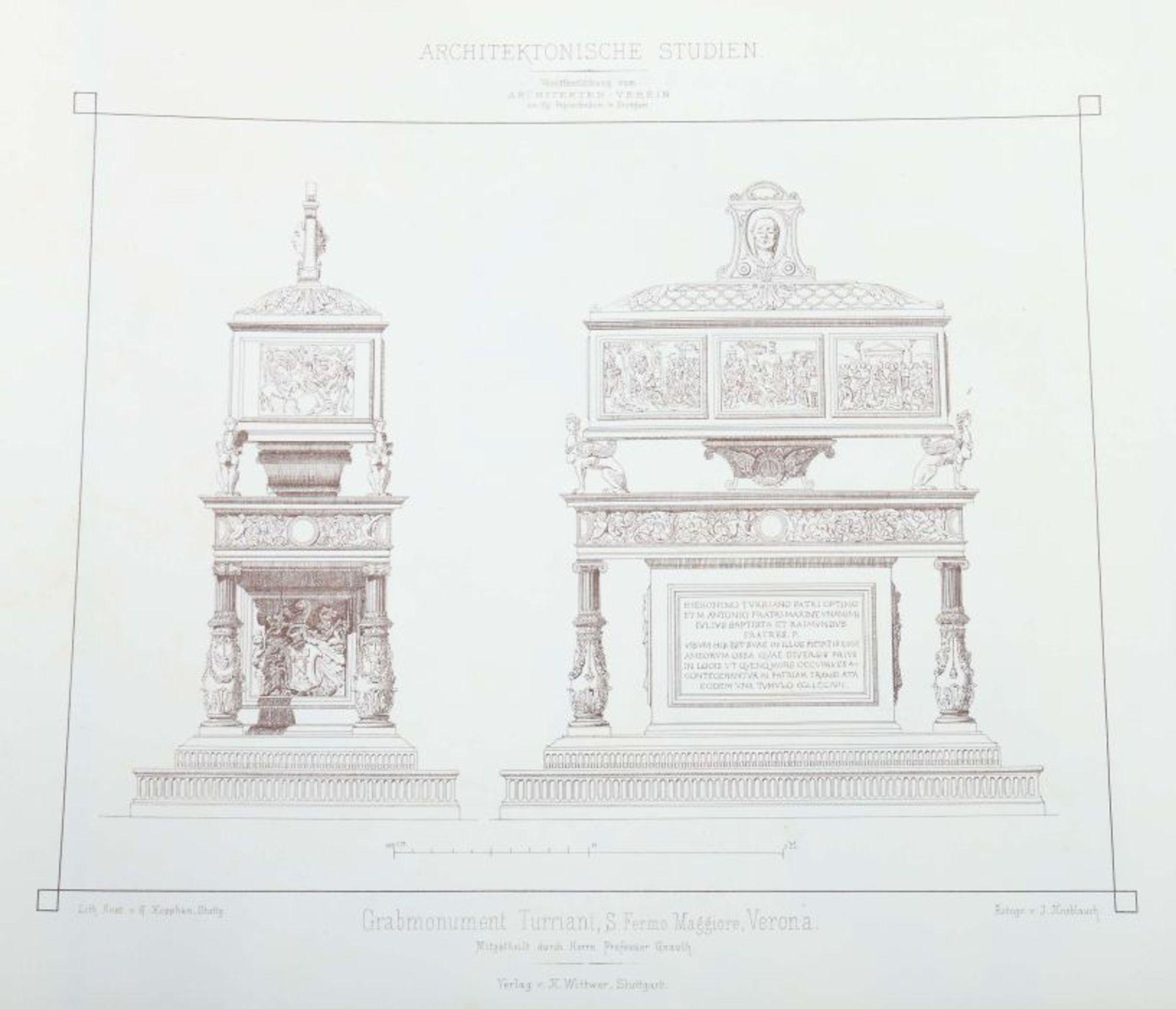 Architektonische Studien Herausgegeben vom Architektenverein am Kgl. Polytechnikum zu Stuttgart, - Bild 10 aus 10