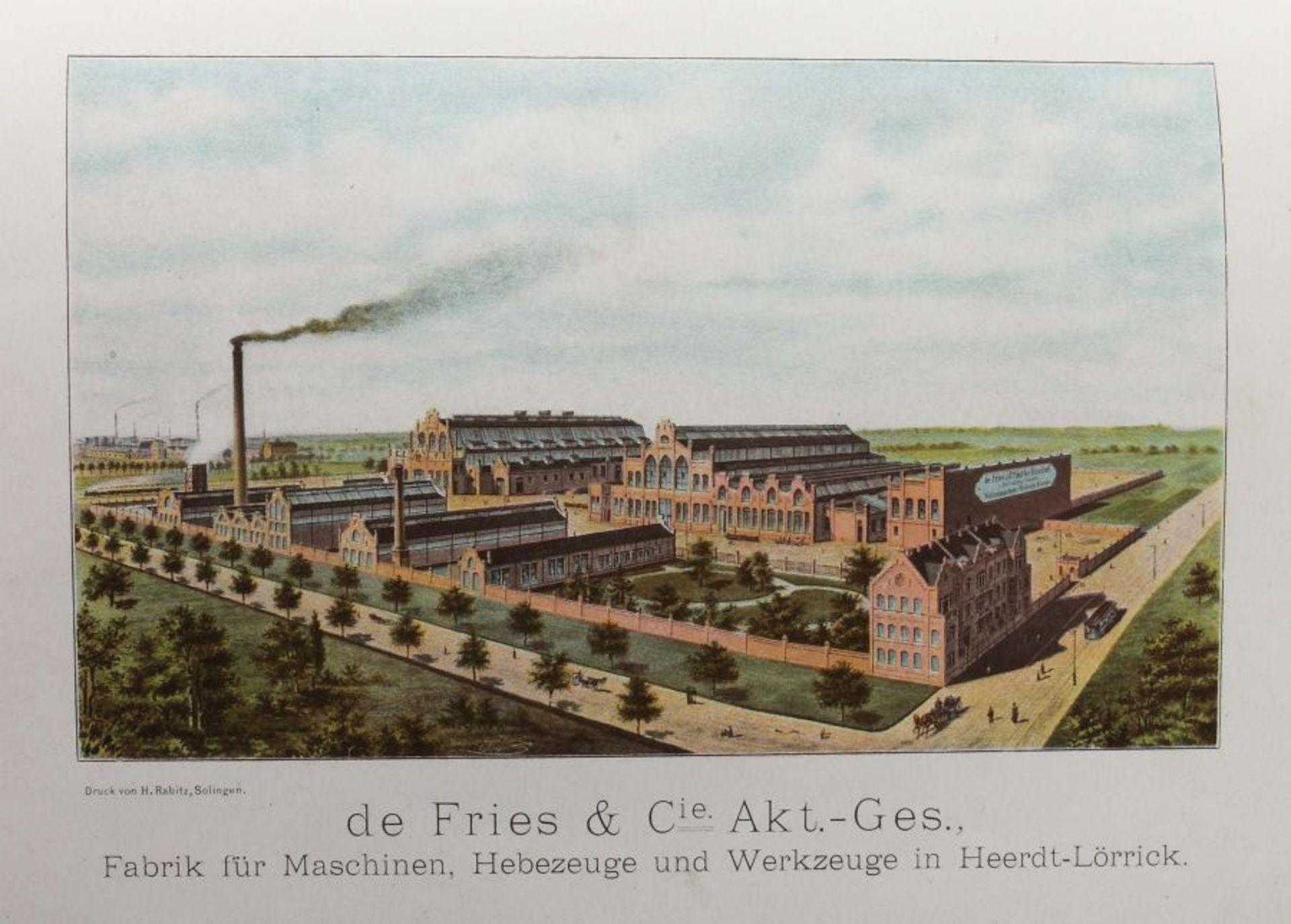 De Fries & Cie AG, Düsseldorf Hauptkatalog der Werkzeuge und Bedarfsartikel, 1901, 799 S. mit - Bild 3 aus 3