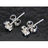 PAAR OHRSTECKER585/000 Weissgold mit DiamantenA PAIR OF STUD EARRINGS 585/000 white gold with