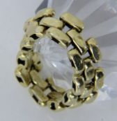 KETTENRING750/000 Gelbgold. Ringgr. 70, ca. 6,2gA CHAIN RING 750/000 yellow gold. Ring size 70,