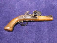 A late 18th/early 19th century French Epprouvette Gun Powder Tester in the form of a Flintlock