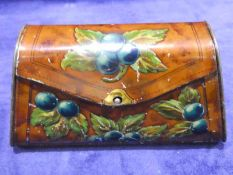 An early 20th century Lyons Toffieskotch advertising tin as a Handbag, embossed grapevine