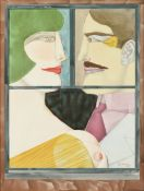 "after RICHARD LINDNER (German/American 1901-1978) A PRINT, ""American Portrait,"" CIRCA 1976, color"