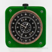 Hamilton 4992B U.S. Government Observatory Watch, colorless and green Plexiglas case housing the 2 3