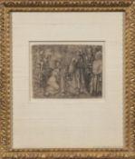 Two Framed Old Master Engravings: Lucas van Leyden (Dutch, 1494-1533), Potiphar's Wife Accusing Jose