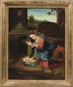 E. Bianchini (Italian, 20th Century), After Correggio, Madonna in adorazione del Correggio, Titled,