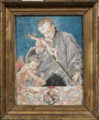 Italian School (Mantua), 18th Century, Homage to Luigi Valenti Gonzaga, Protector of the Capuchins o