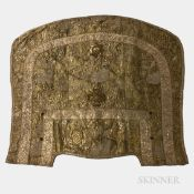 Gold and Silver Embroidered Cape, Europe, 18th/19th century, featuring a densely embroidered renderi