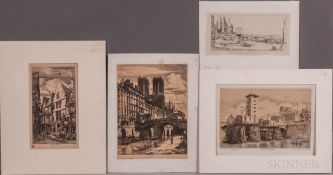 Four Prints By or After Charles Meryon (French, 1821-1868) La Rue des Toiles, à Bourges; Le Petit Po
