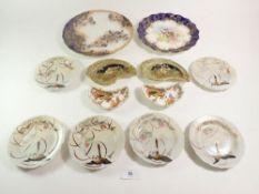 Two Doulton plates, six Japanese tea plates etc