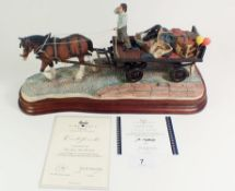 A Border Fine Arts model 'Rag, Bone, Any Old Iron?', ltd ed. 240 of 500 by Ray Ayres. With