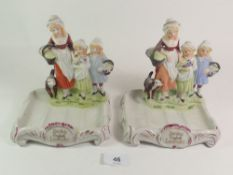 Two Yardley English Lavender figural soap dishes.