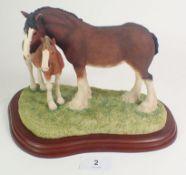A Border Fine Arts model Shire mare and foal A0188