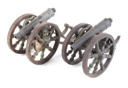 Two model cannons