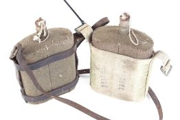 Two WWI Pattern 1903 canvas covered water bottles