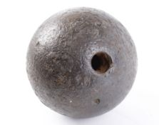 88lbs iron cannonball, approx. 9 ins diameter, possibly for US Naval 9 inch cannon (inert, hollow)
